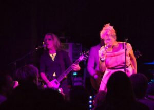Donita Sparks and Alice Bag at Alice's Release show. Photo by Heath Saunders